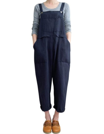 Gihuo Casual Baggy Overalls