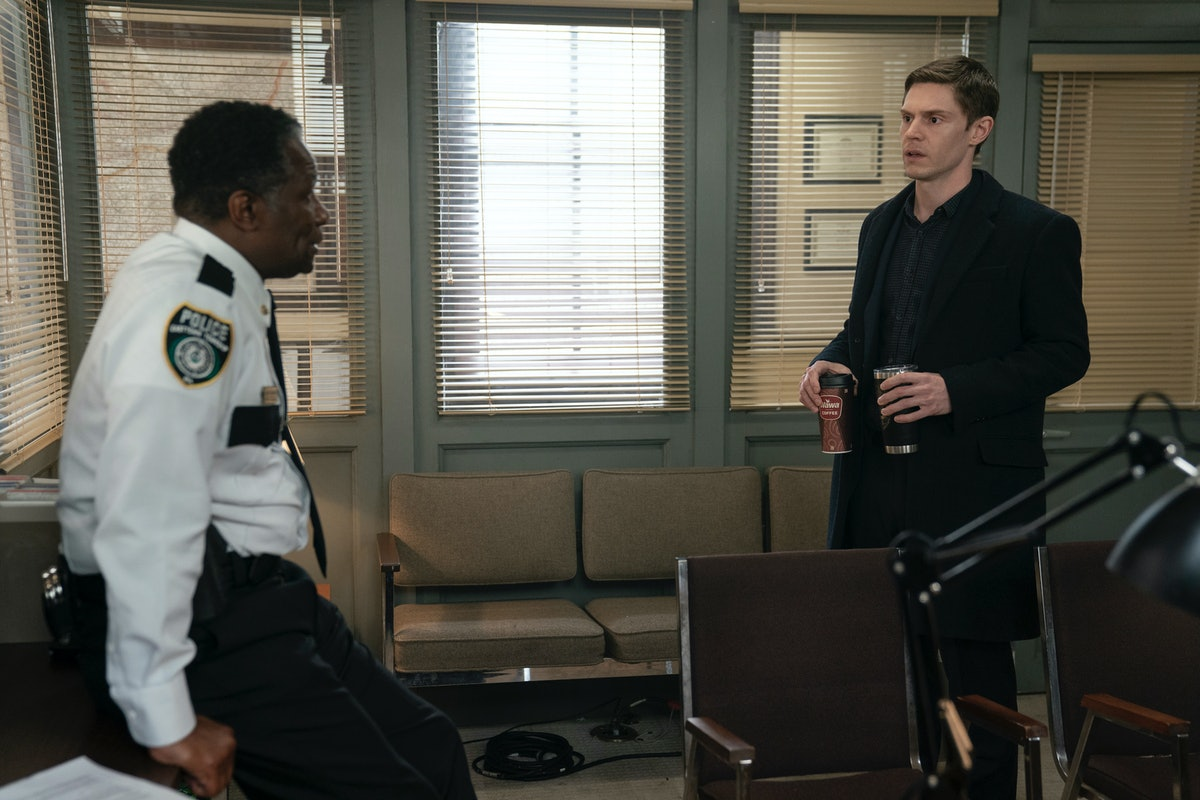 John Douglas Thompson and Evan Peters in HBO's Mare of Easttown