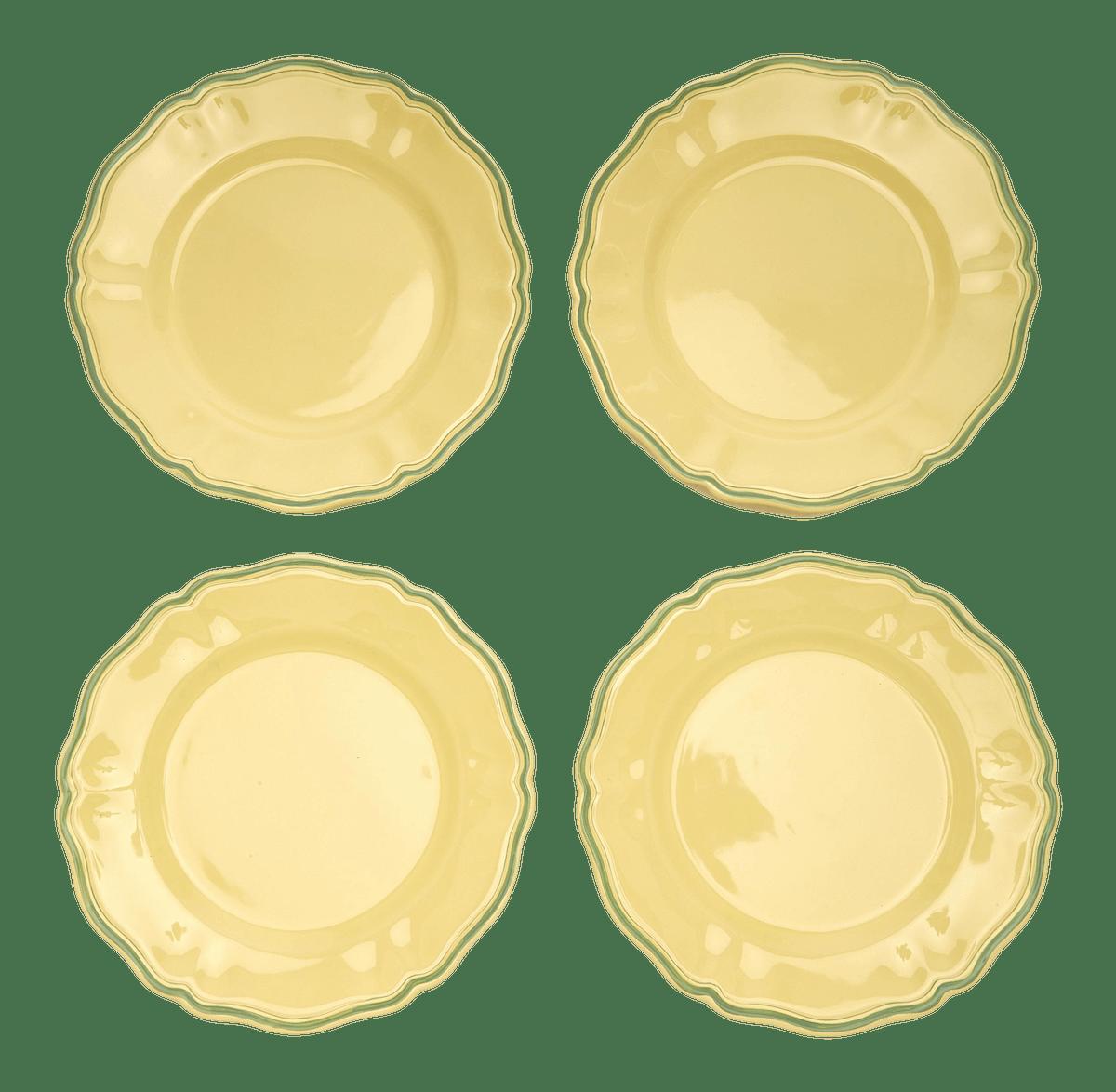 Moda Domus x Chairish Exclusive Colorblock Dinner Plates - Set of 4