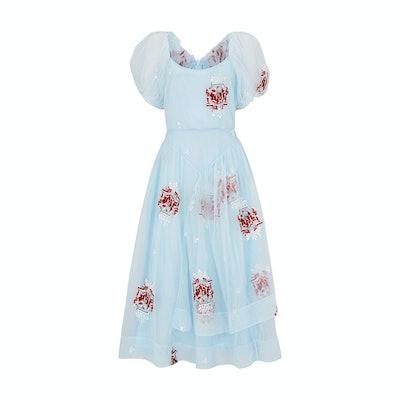 Simone Rocha Castle Embroidered Tulle Dress