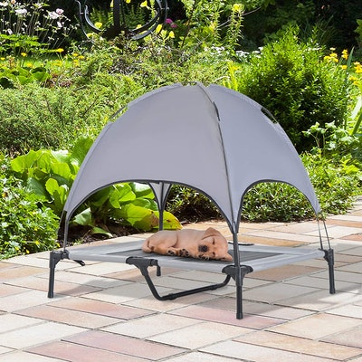 PawHut Elevated Portable Pet Canopy