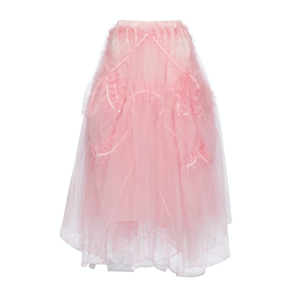 Noir Kei Ninomiya Ruffle Trimmed Tulle Midi Skirt