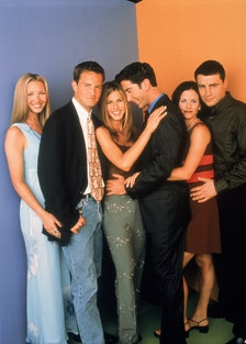 The cast of Friends in the 1990s.
