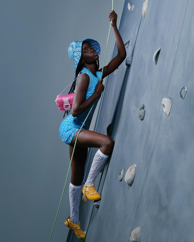 New Fendi FF Vertigo collection is full of summery, multicolored items, including the iconic Fendi B...