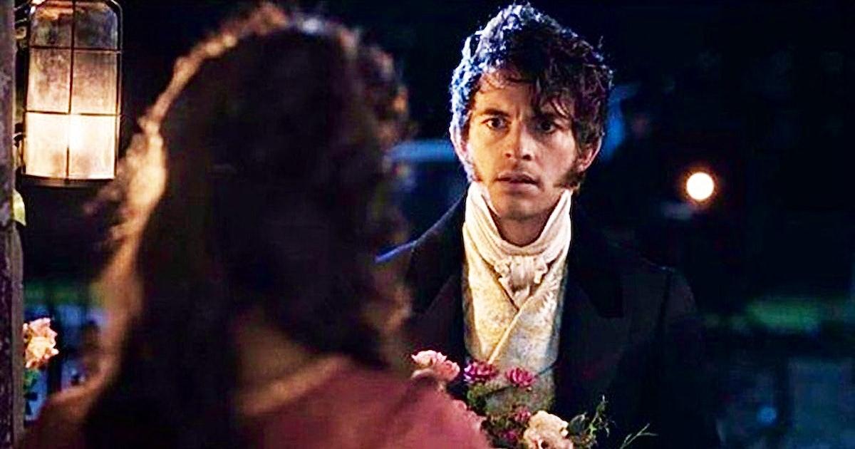 Jonathan Bailey holding flowers as Anthony Bridgerton in Netflix's 'Bridgerton'