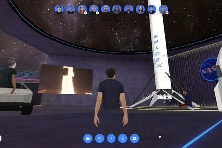A SpaceX-themed virtual environment in Spatial.