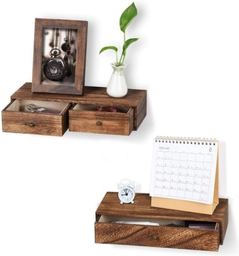 Emfogo Floating Shelves With Drawers (2-Pack)