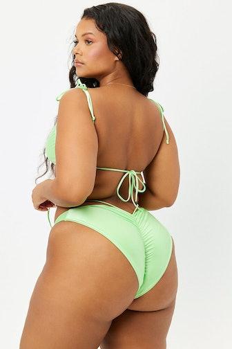 Foxy Satin Cheeky Bikini Bottom