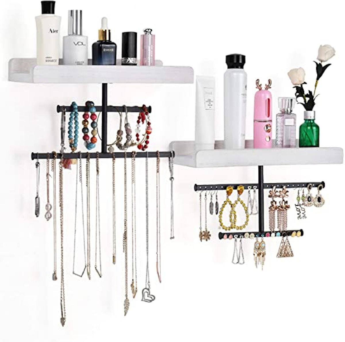 Keebofly Hanging Wall Mounted Jewelry Organizer (Set of 2)
