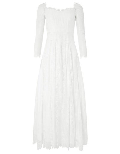 Cecily Bridal Bardot Lace Maxi Dress