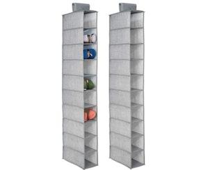 mDesign Soft Fabric Closet Organizer (2-Pack)