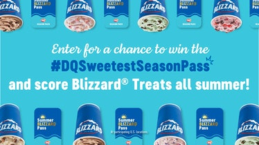 You can enter to win Dairy Queen's 2021 Sweetest Season Pass on social media.
