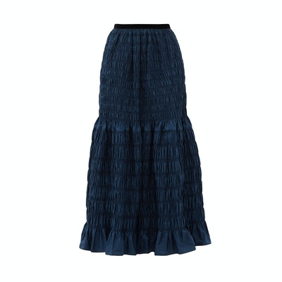 Molly Goddard Emanuelle Shirred-Taffeta Skirt