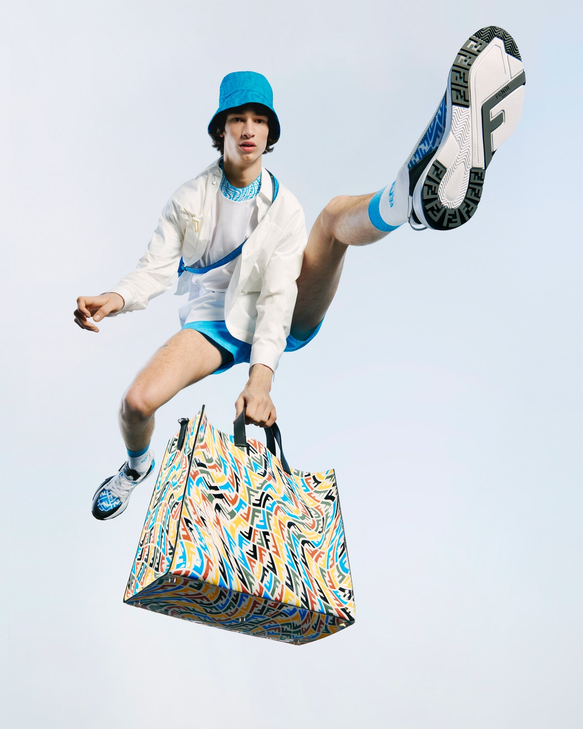 New Fendi FF Vertigo collection is full of summery, multicolored items, including a ready-to-wear an...