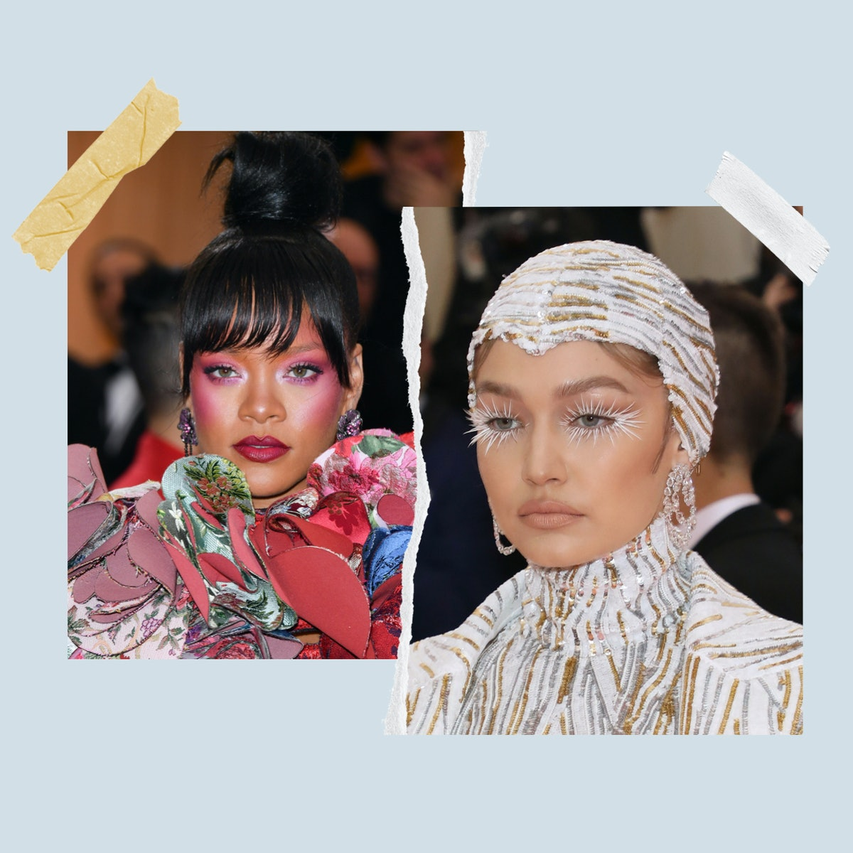 Rihanna and Gigi Hadid are two celebrates that have had some of the most show-stopping makeup moments of all time.