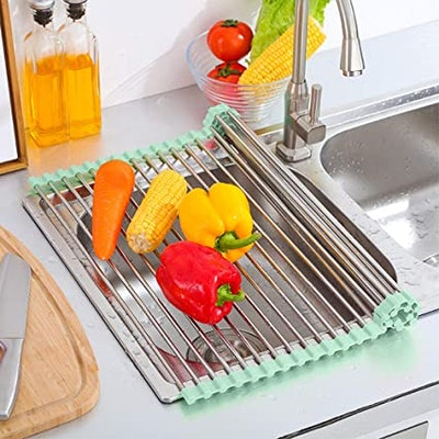 Tomorotec Roll Up Foldable Dish Drying Rack