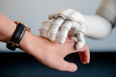 robot hand touch
