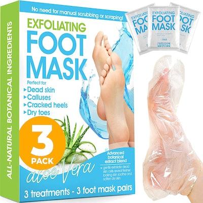 Freedom Goods Exfoliating Foot Masks (3 Pairs)