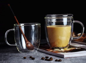 Zhumutang Double-Wall Glass Coffee Mug