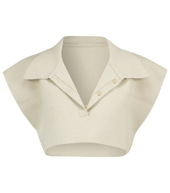 Le Polo Santon cotton-blend crop top