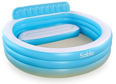 Sable Inflatable Pool with Back-rest and Built-in Bench
