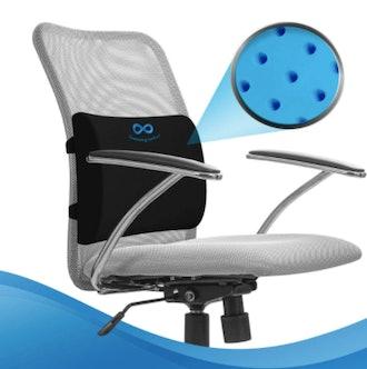 Everlasting Comfort Memory Foam Gel Infused Lumbar Support Pillow