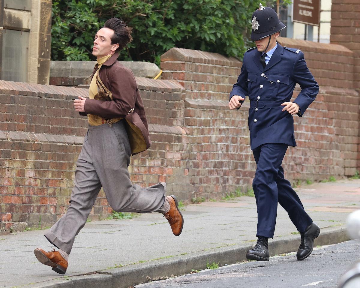 David Dawson and Harry Styles running