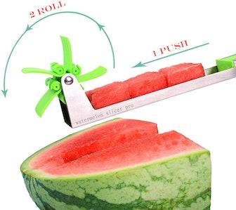 Watermelon Slicer Stainless Steel Windmill Watermelon Cutter