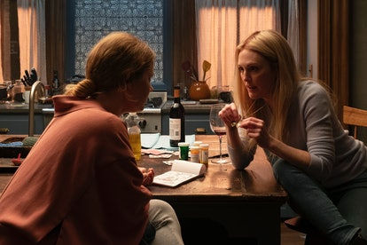 Amy Adams as Anna and Julianne Moore as Jane in The Woman in the Window.