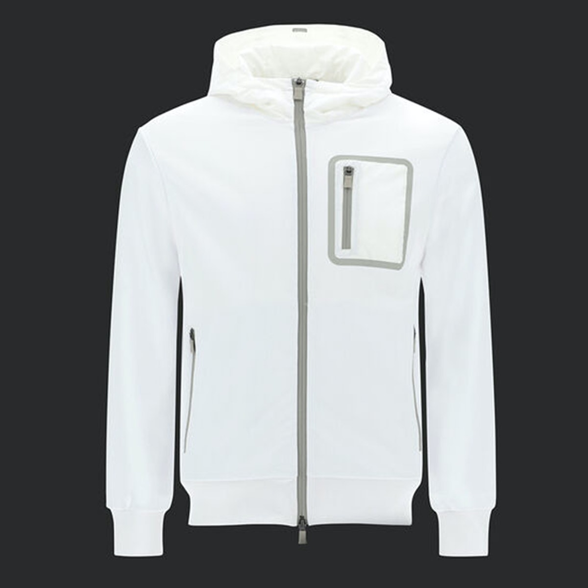 Herno Cotton sweatshirt with Gore-Tex hood and pockets