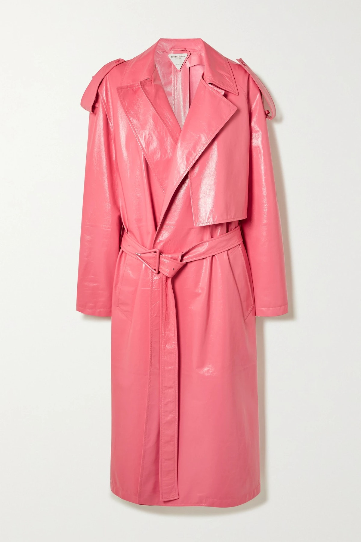 Convertible Crinkled Glossed Coat