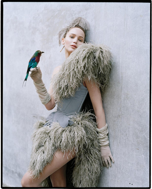 JLaw holding a bird