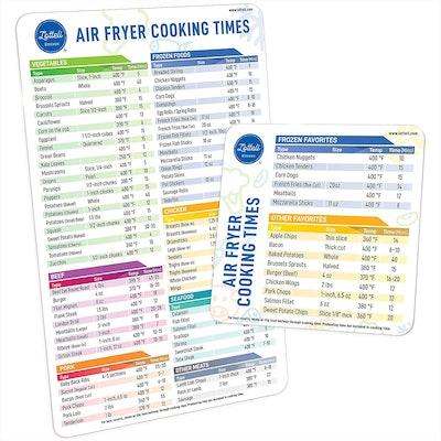 Lotteli Air Fryer Magnetic Cheat Sheet Set