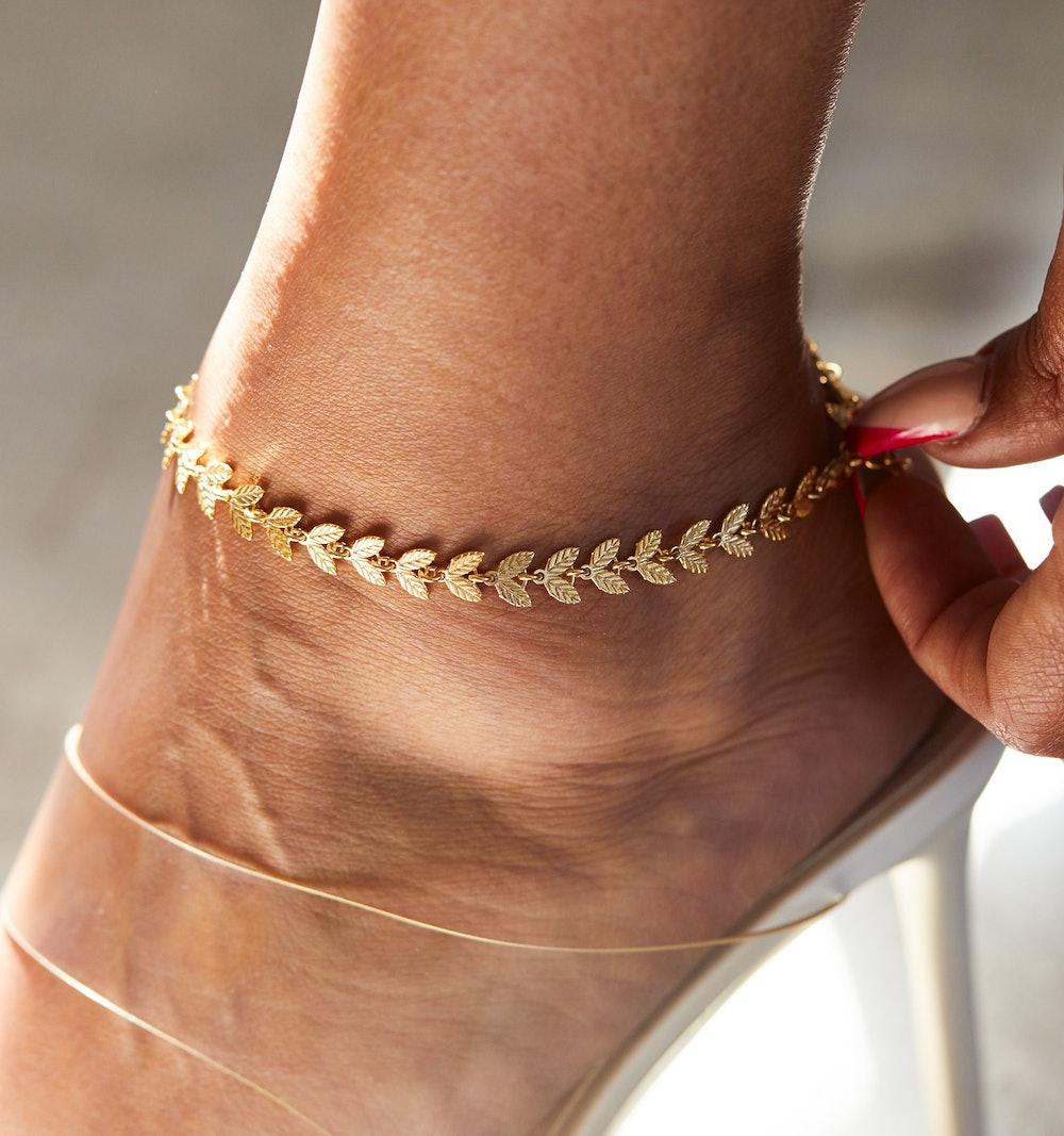 Laurel Chain Anklet