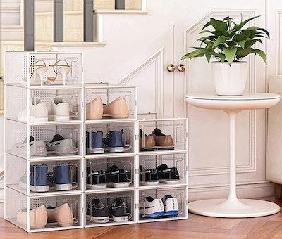 Seseno Shoe Storage Boxes (12-Pack)