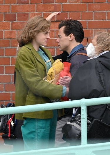 Harry Styles and Emma Corrin getting close