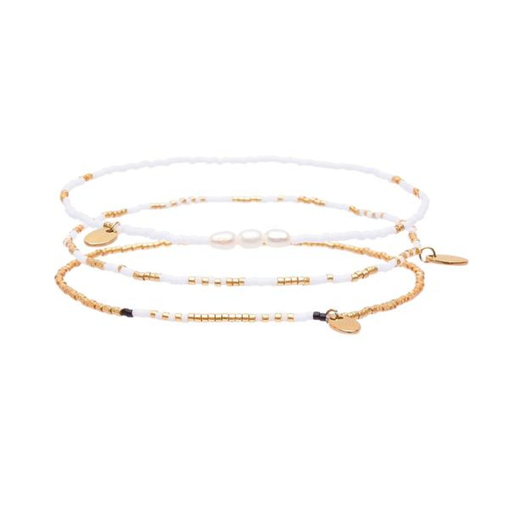 BUTTERCUP ANKLET STACK