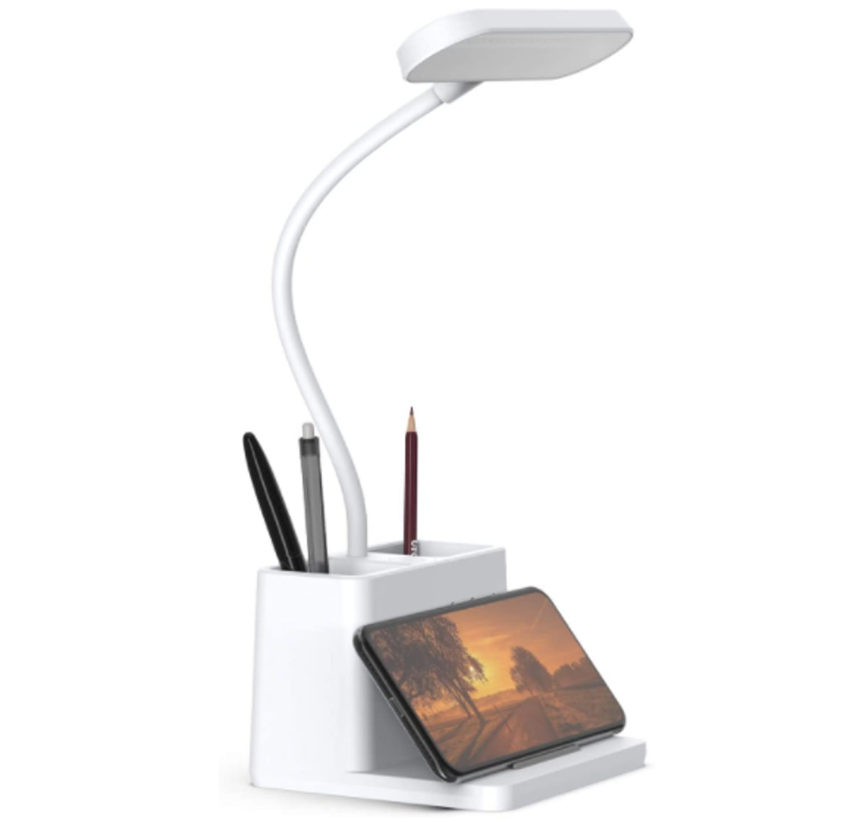 AXX LED Desk Lamp with Pen & Phone Holder
