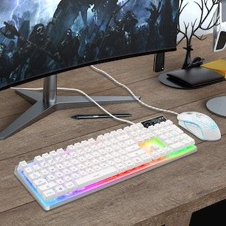 LED Rainbow Backlit Keyboard & Mouse Combo
