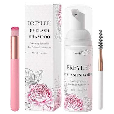 Eyelash Extension Shampoo & Brush