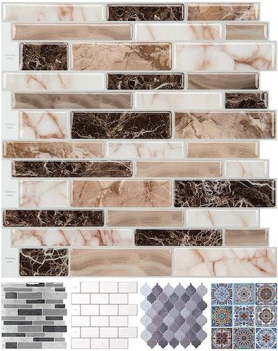 LONGKING Peel and Stick Tile Backsplash (10 Sheets)