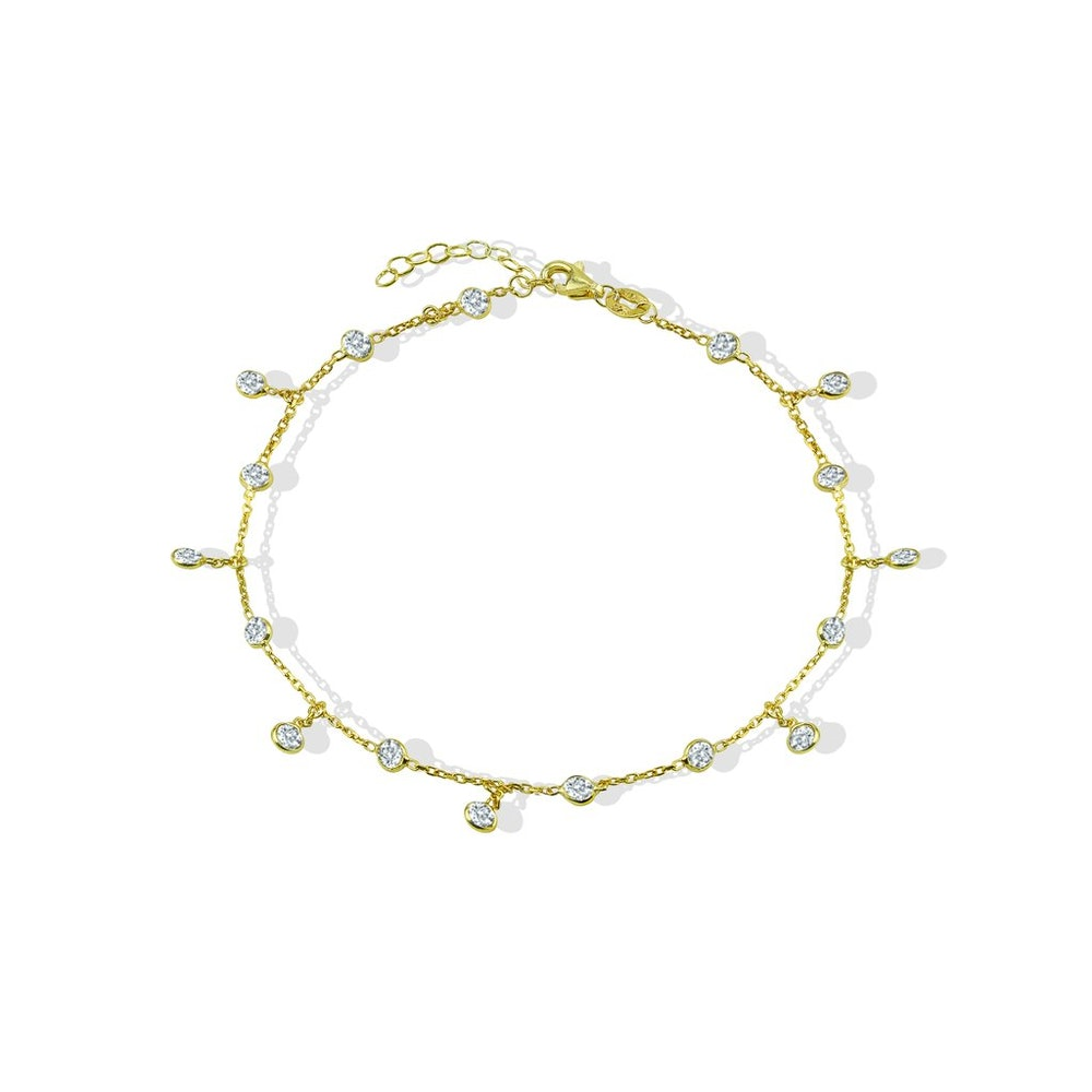 THE CIRCLE CZ CHARM ANKLET