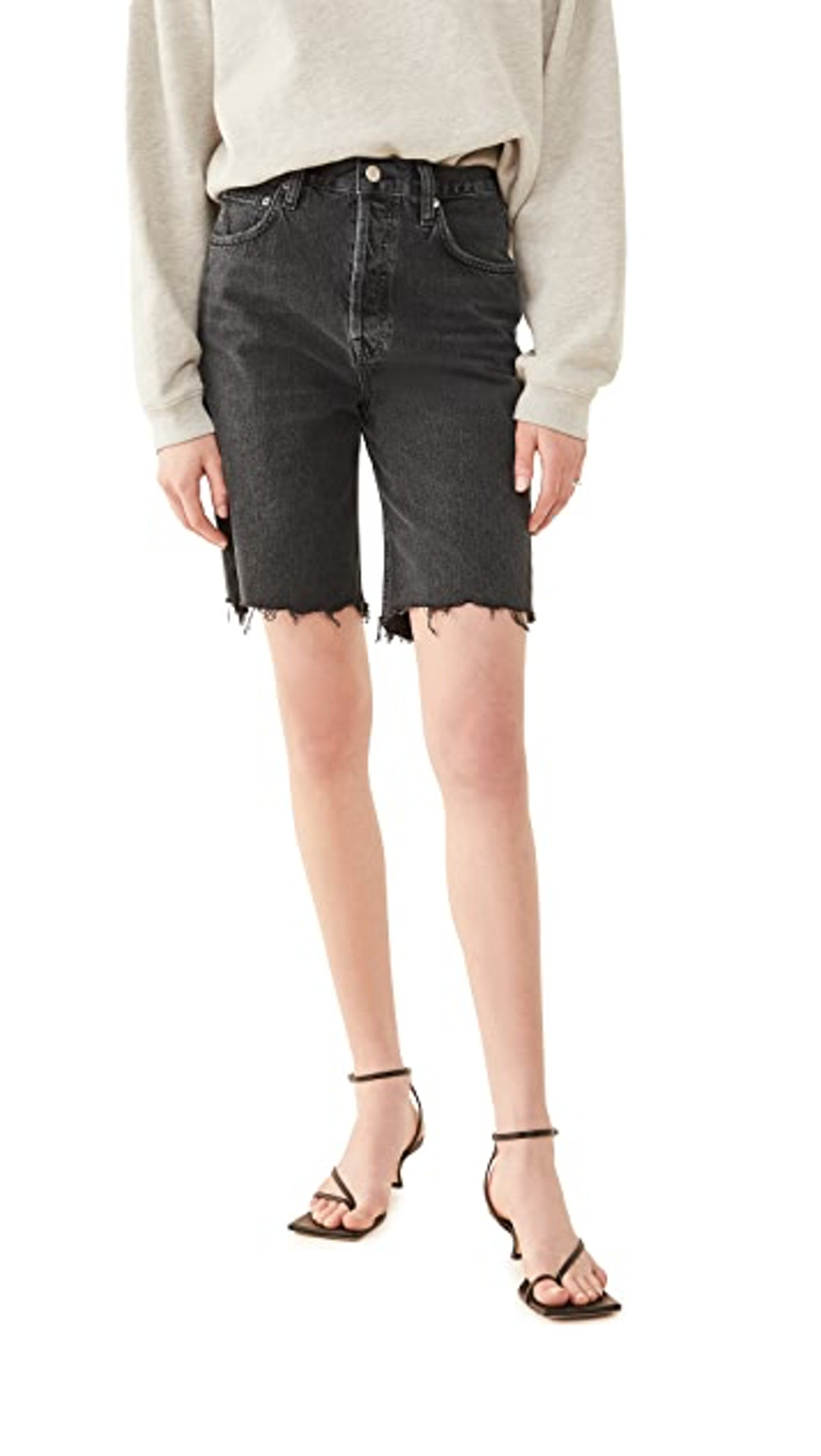 90's Pinch Waist High Rise Straight Leg Shorts