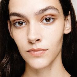 Model backstage for fashion week