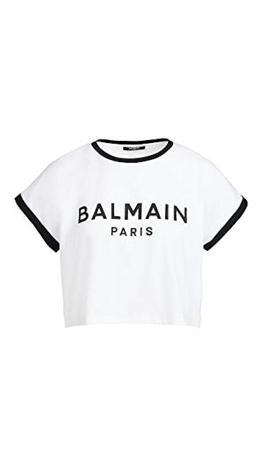 Cropped Printed Logo T-Shirt