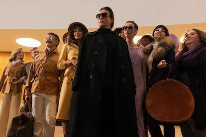 Ewan McGregor and cast members from Netflix's Halston.