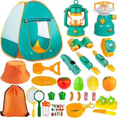 Aokiwo Kids Camping Tent Set (45 Pieces)