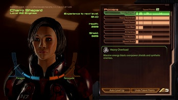 mass effect 2 squad menu with shepard face code