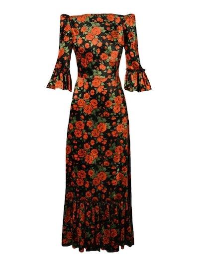 The Festival 3/4 Rose Velvet Dress