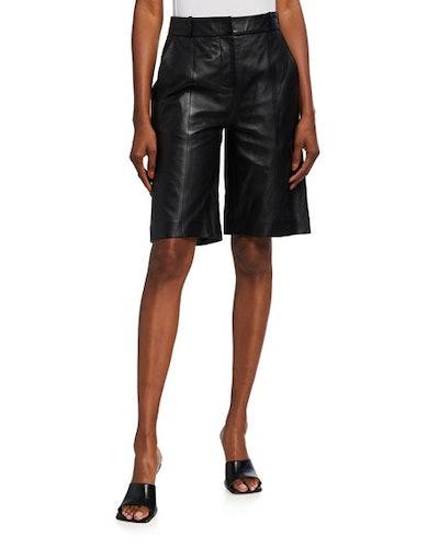 Kiltan Leather Bermuda Shorts